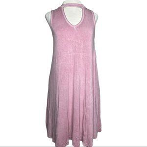 American Eagle Pink Modest Sundress Hi-Neck XS
